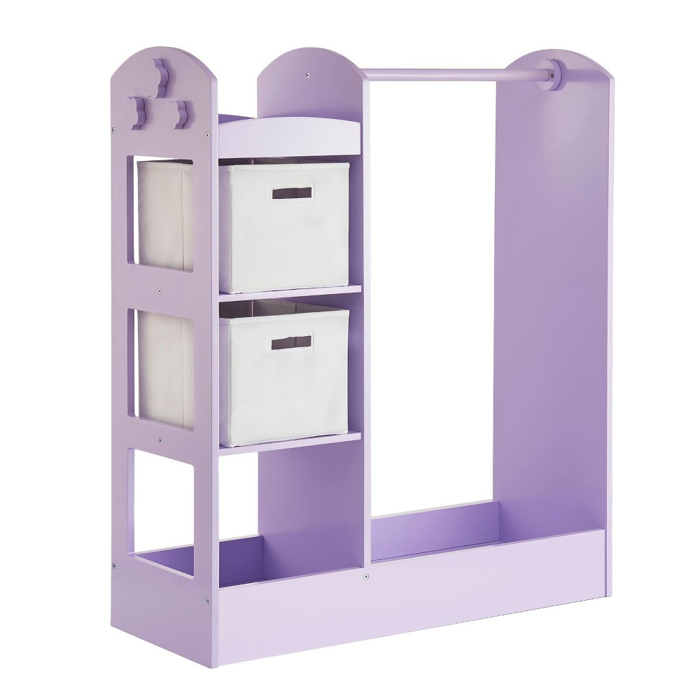 "Image of ""Clothing Armoire 42"""" Lavender - Guidecraft, Green"""
