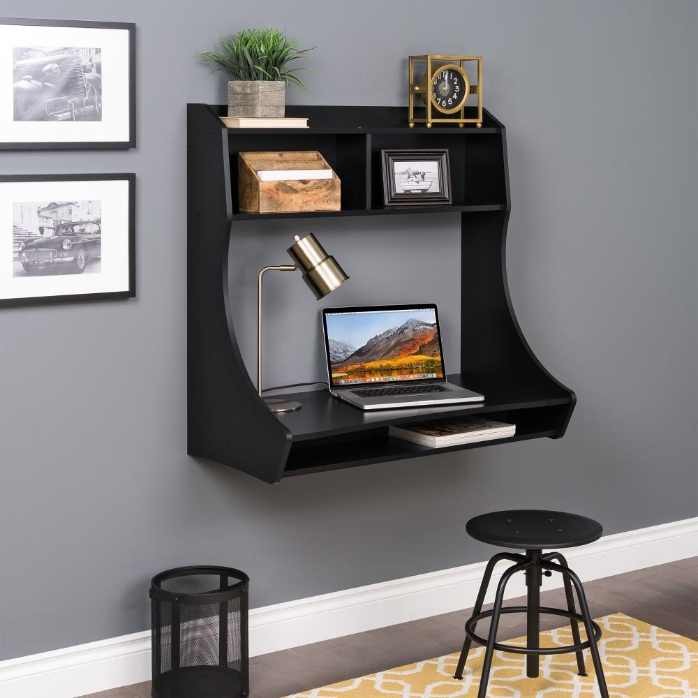 Compact Hanging Desk Black - Prepac