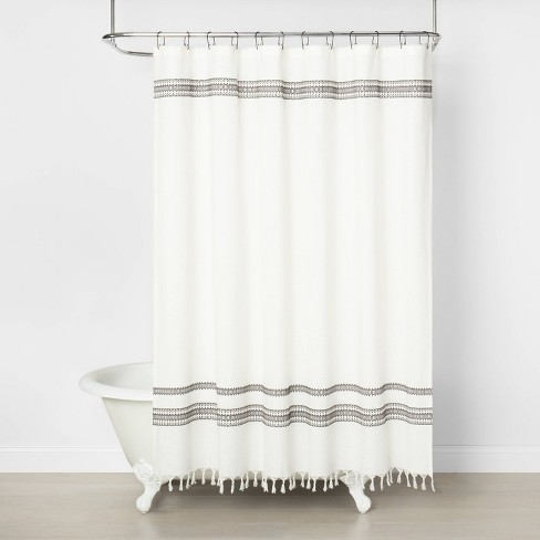 Embroidered Shower Curtain Railroad, Target Bathroom Shower Curtains