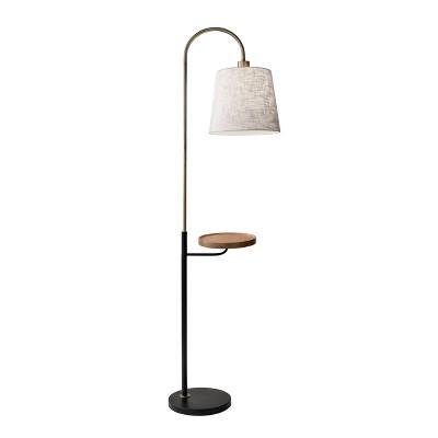 "65"" 3-way Jeffrey Shelf Floor Lamp Brass - Adesso"