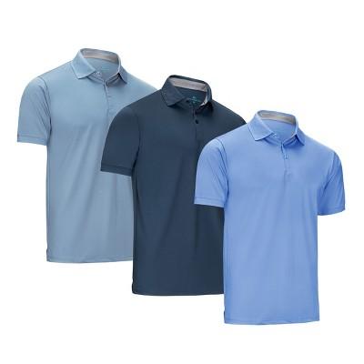 Mio Marino - Designer Golf Polo Shirt - 3 Pack