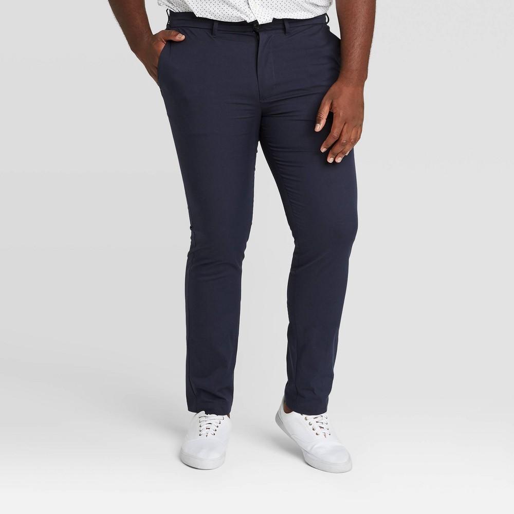 Men 39 S Tall Skinny Fit Hennepin Tech Chino Pants Goodfellow 38 Co 8482 Blue 32x36