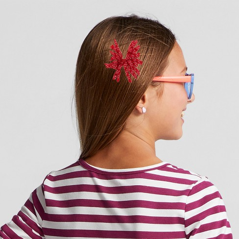 491c320ee84a Girls' Curly Ribbon Grosgrain Bow Headband - Cat & Jack™ Red : Target