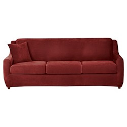 Stretch Pique 3 Seat Sleeper Sofa Slipcover Sure Fit