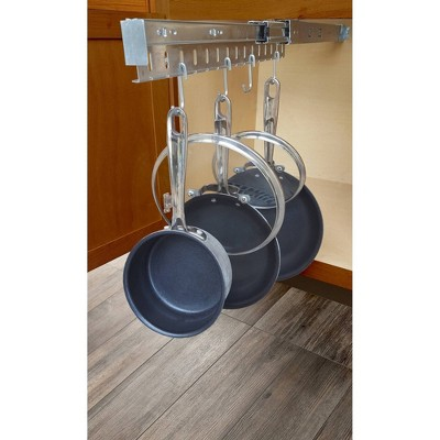 USA Patented Pot and Pan Cabinet Organizer with 8 Hooks