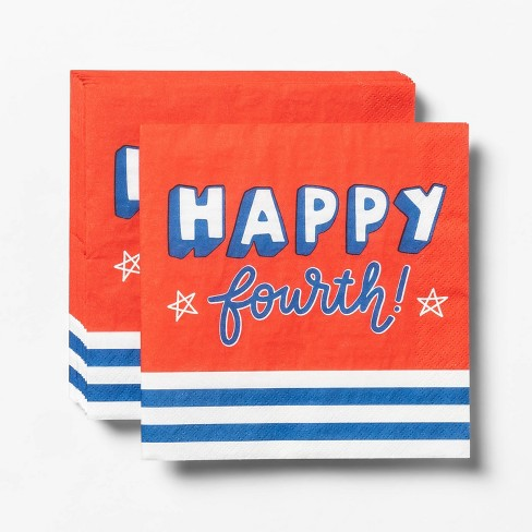 20ct 4th of July Happy Fourth Lunch Napkin - Sun Squad™ - image 1 of 1