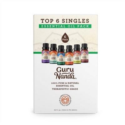 GuruNanda Singles Oil Set Blends - 6ct/60ml Total
