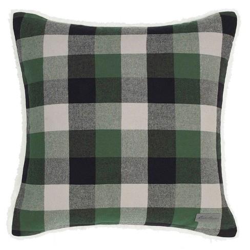 Finley Plaid Throw Pillow Green - Throw Pillow : Target