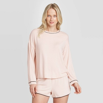 Women's Beautifully Soft Long Sleeve Pajama Set - Stars Above™ Soft Pink L