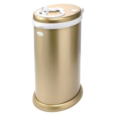 Ubbi Metallic Diaper Pail - Gold
