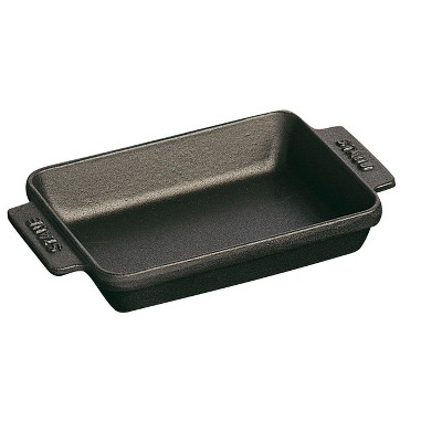 Staub Cast Iron 5.75-inch x 4.5-inch Mini Rectangular Baker - Matte Black
