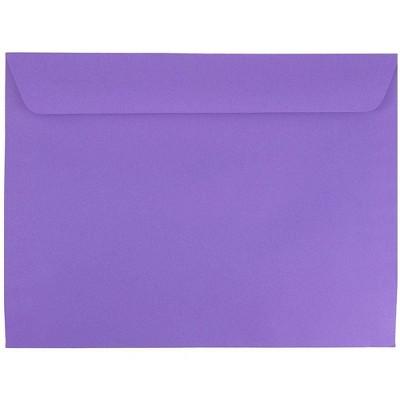"JAM Paper 50pk 9""x12"" Booklet Envelopes - Purple"