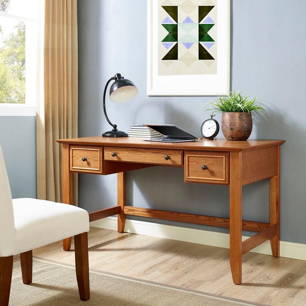 Campbell Computer Desk Oak (Brown) - Crosley