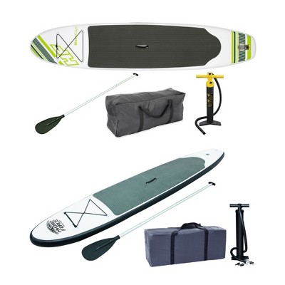 Bestway Inflatable Hydro Force Stand Up Paddle Board, Green + Gray Paddle Board