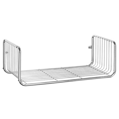 mDesign Wide Decorative Metal Storage Organizer Shelf - Wall Mount