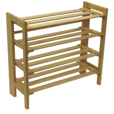 Clifford Foldable Shoe Rack - Natural - Winsome