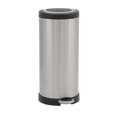 Household Essentials 30L Round Design Trend Step Trash Can Stainless Steel