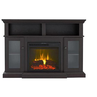 HearthPro Drew Electric Fireplace Media Console in Dark Mahogany - SP5720