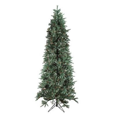 Santa's Own 9' Prelit Artificial Christmas Tree Slim Fresh Cut Carolina Frasier - Multicolor Light