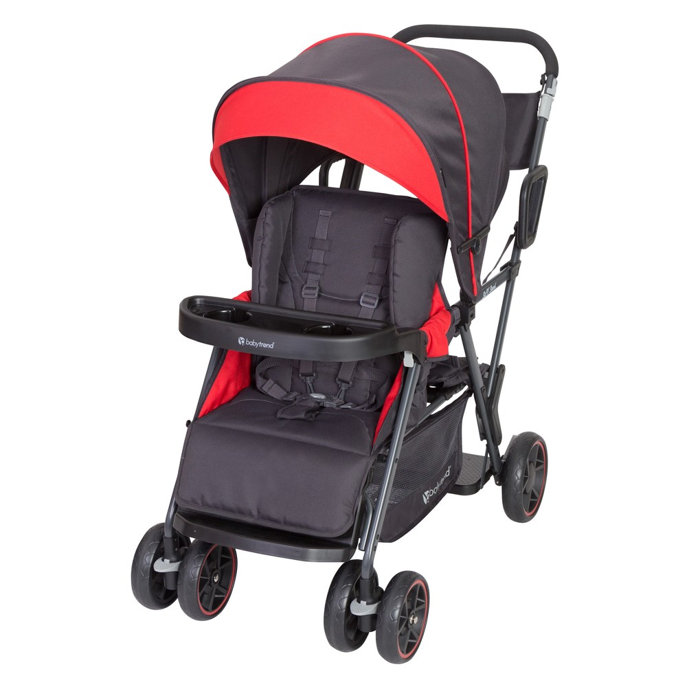 Image of Baby Trend Sit N' Stand Sport Stroller - Dusk Red, Black