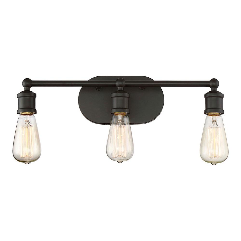 Oil Rubbed Bronze Vanity Wall Lights (Set of 3) - Z-Lite