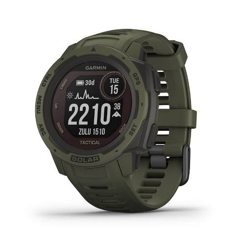 Garmin Instinct Solar Tactical Moss Rugged GPS Smartwatch with Solar Charging - image 1 of 4