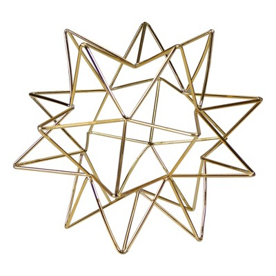 "Northlight 6"" Gold 3D Star Christmas Tabletop Decoration"