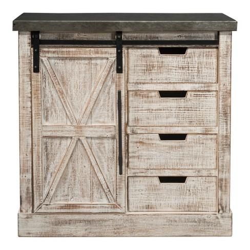 Wooden/Metal 1 Door & 4 Drawers Cabinet Brown - Home Source Industries - image 1 of 4