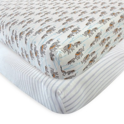 Touched by Nature Unisex Baby and Toddler Organic Cotton Crib Sheet