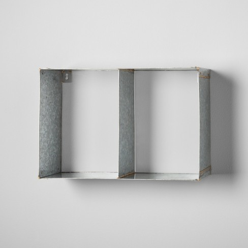 Galvanized Metal Wall Shelf - Hearth & Hand™ with Magnolia - image 1 of 2