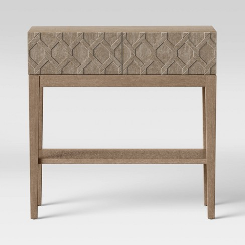 Alliaria Carved Front 2 Drawer Console Wood - Opalhouse™ - image 1 of 4