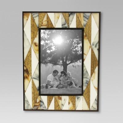 Pieced Bone and Wood Single Image Frame 4x6 - Threshold™