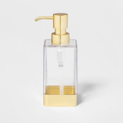 Square Soap/Lotion Dispenser Gold/Clear - - - - - - - - - - - - Room Essentials™