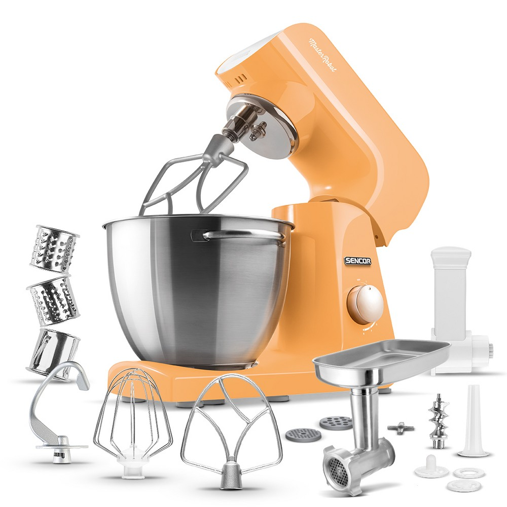 Sencor 4.75qt Stand Mixer and Accessories – Orange 54289373