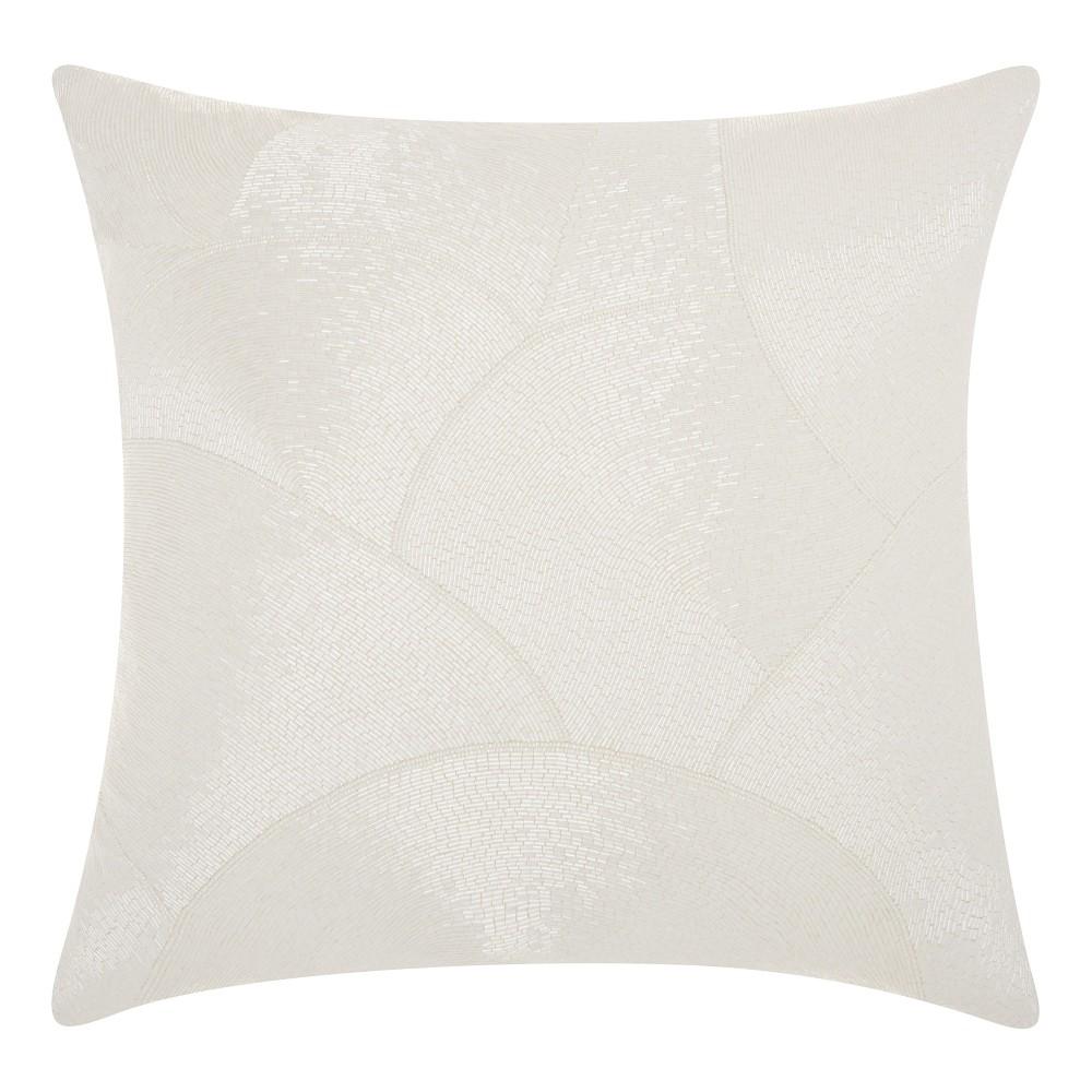White Mosaic Throw Pillow - Mina Victory