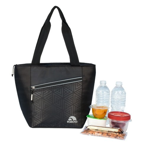 Igloo Balance Cooler Lunch Tote Cooler Bag 12 Can - Faux Leather Print
