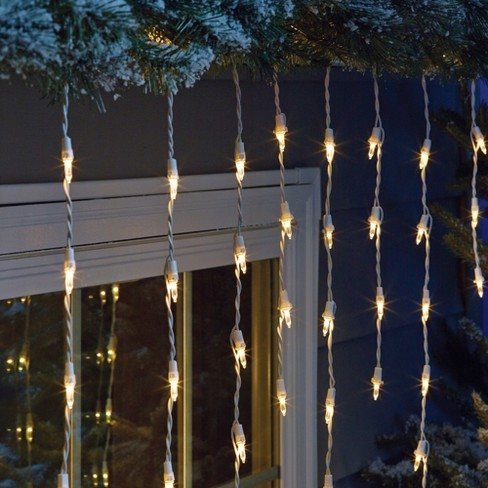 Philips 105ct Christmas LED Icicle String Lights Warm White WW : Target