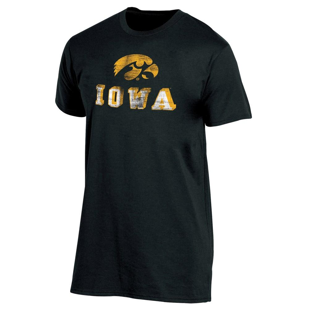 Iowa Hawkeyes Men's Short Sleeve Keep the Lights On Bi-Blend Gray Heathered T-Shirt XL, Multicolored