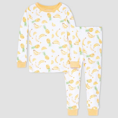 Burt's Bees Baby® Girls' 2pc Fruit Pajama Set - Orange