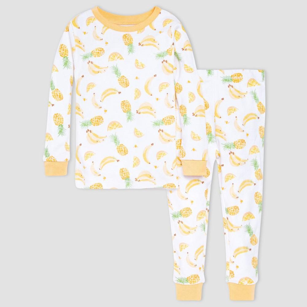 Burt 39 S Bees Baby 174 Baby Girls 39 2pc Fruit Pajama Set Orange 3t
