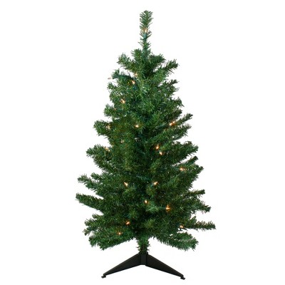 Northlight 3' Prelit Artificial Christmas Tree Medium Mixed Classic Pine - Clear Lights