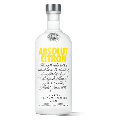 Absolut® Citron Vodka - 750mL Bottle