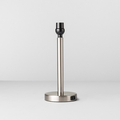 Table Lamp Base Silver Small (Includes LED Bulb)- Made By Design™