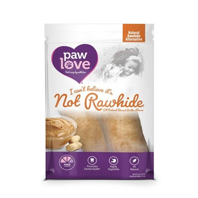 Paw Love I Can't Believe It's Not Peanut Butter Rawhide Dog Treats - 2 ct