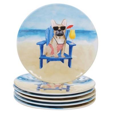 "9"" 6pk Melamine Hot Dogs Salad Plates - Certified International"