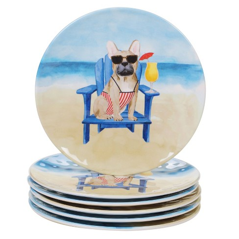 "9"" 6pk Melamine Hot Dogs Salad Plates - Certified International - image 1 of 1"