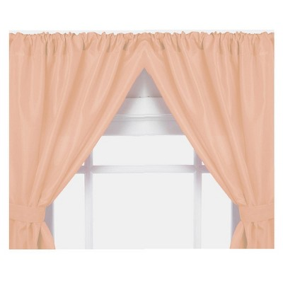 """Carnation Home Fashions Thick Heavy Duty Curtain For Bathroom Window With Tieback And Panel, (36""""x45"""")"""