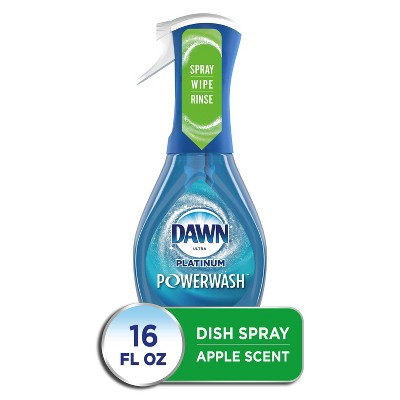 Dawn Platinum Powerwash Dish Spray, Dish Soap, Apple Scent - 16oz