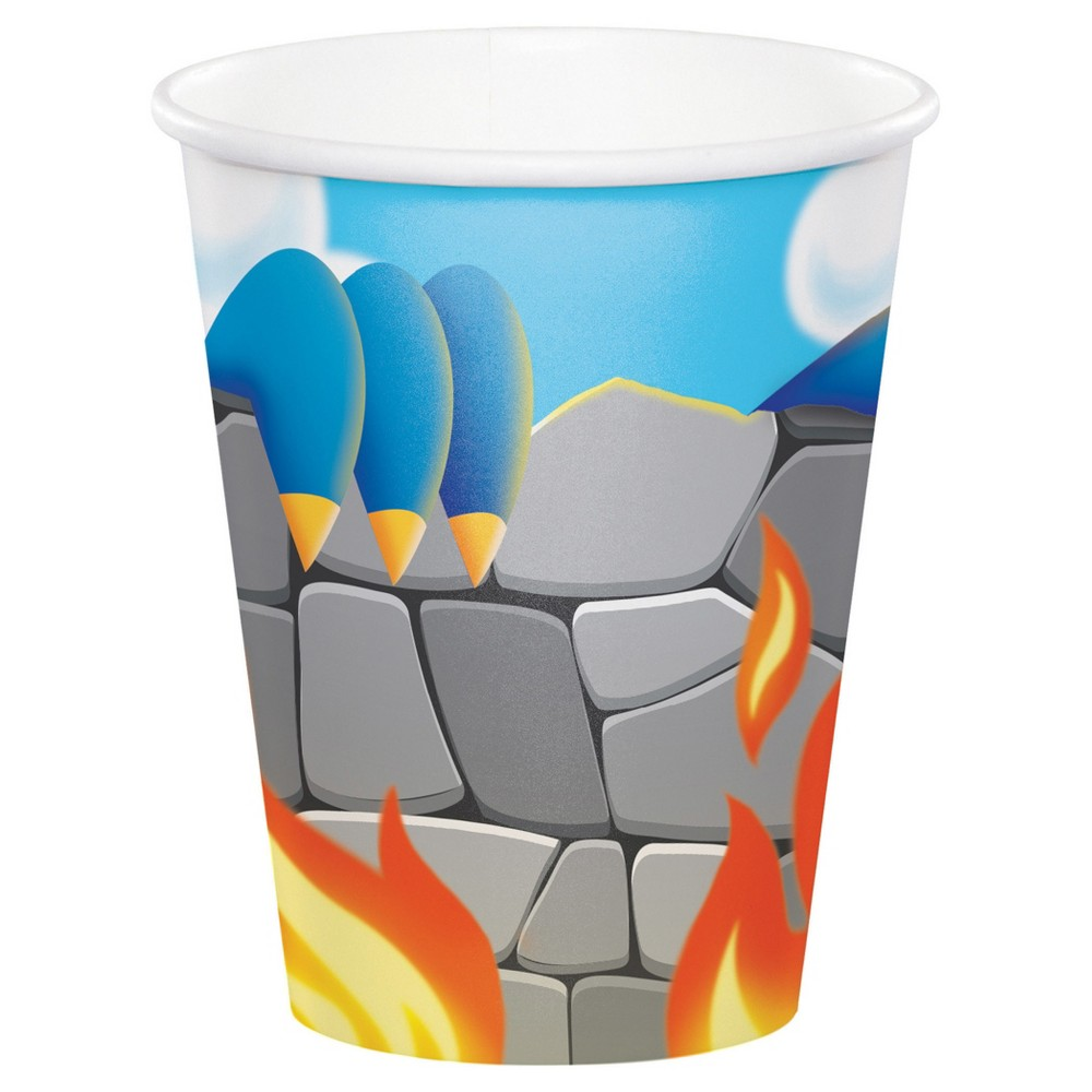 8ct Dragon Cups, Disposable Drinkware