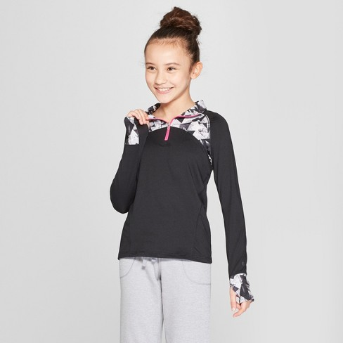 076d67ee8374 Girls  Performance 1 4 Zip Pullover - C9 Champion® Black M   Target